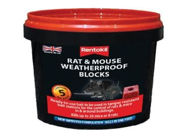 Rat & Mouse Weatherproof Blocks (Tub 5)